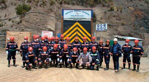 Complejo minero Colquiri recibe visita técnica de nuestra institución