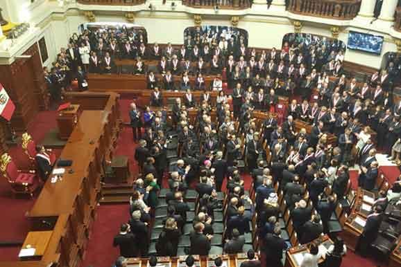 Presentes en el discurso del presidente PPK en el Congreso de la República