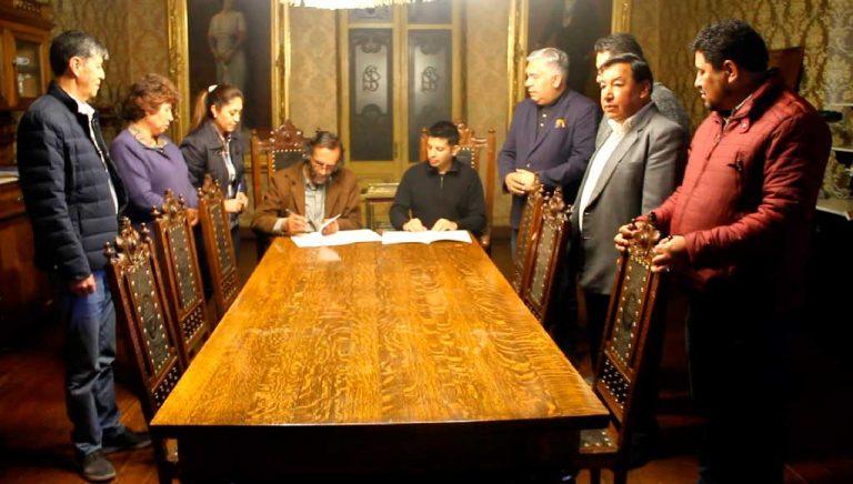 Universidad Técnica de Oruro firma convenio con nuestra institución