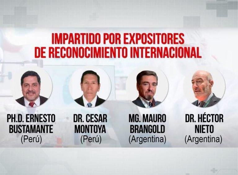 Mesa de trabajo en salud pública presidida por PhD Ernesto Bustamante